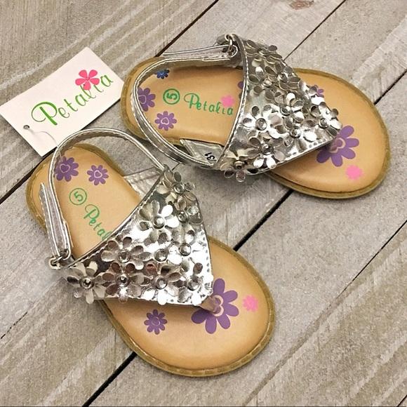 077cdff665a71c PETALIA - Toddler Girl Silver Sandals